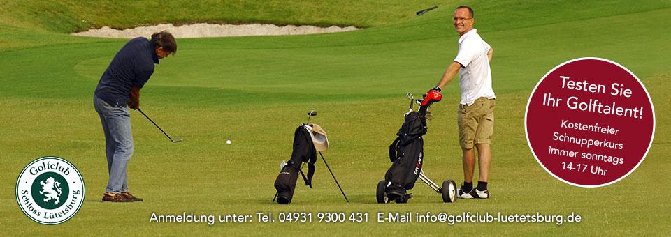 Golfplatz Schloss Lütetsburg Schnupperkurs Probekurs