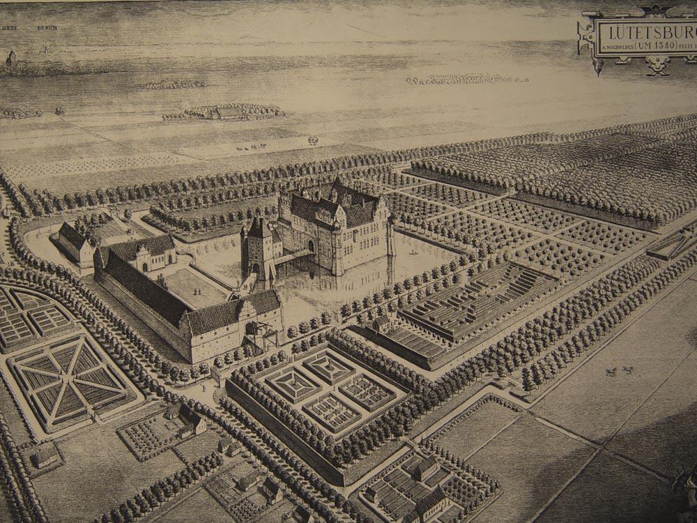 Het kasteel in 1580