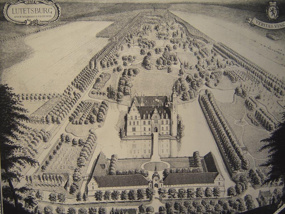 Das Schloss im Jahr 1935
