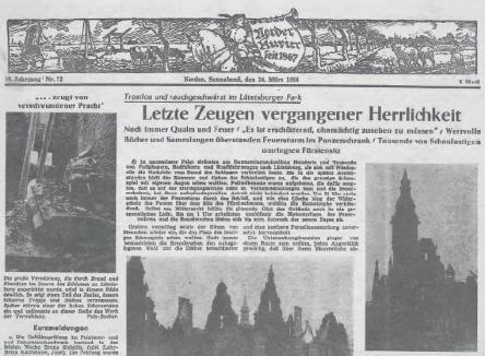 Norder-Kurier_24.Maerz_1956_Schloss-Luetetsburg_Titel