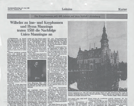 Ostfr.-Kurier_04.Juni_1988_Schloss_Luetetsburg_titel